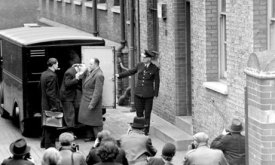 John Christie arrives in prison van